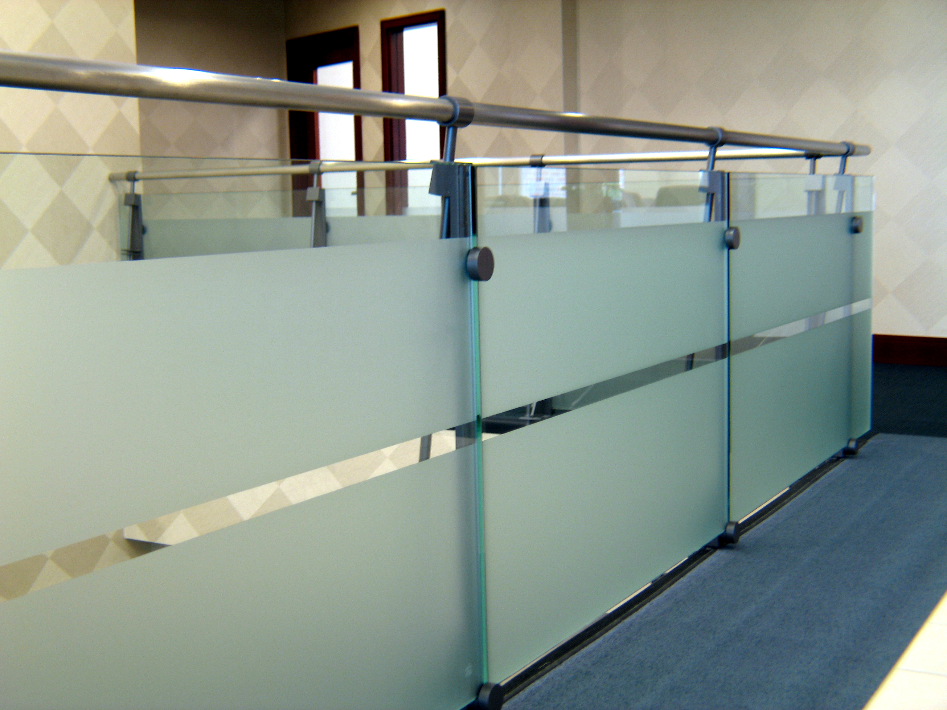 Frosted Glass Balustrage